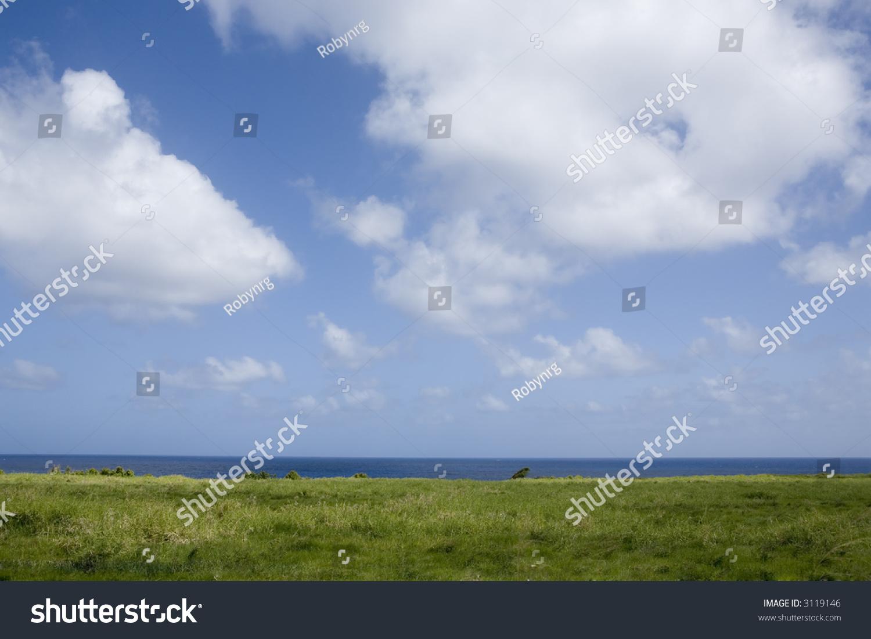 blue ocean clouds scenic - photo #4