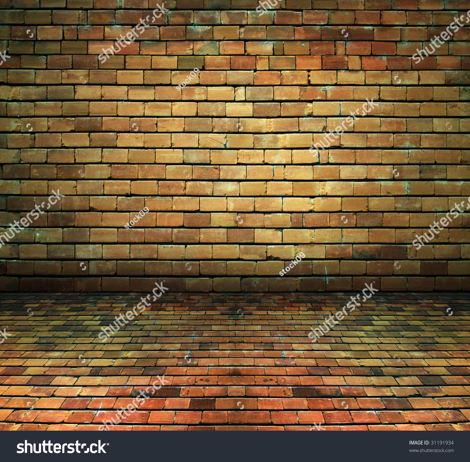 brick house interior basement background texture stock photo