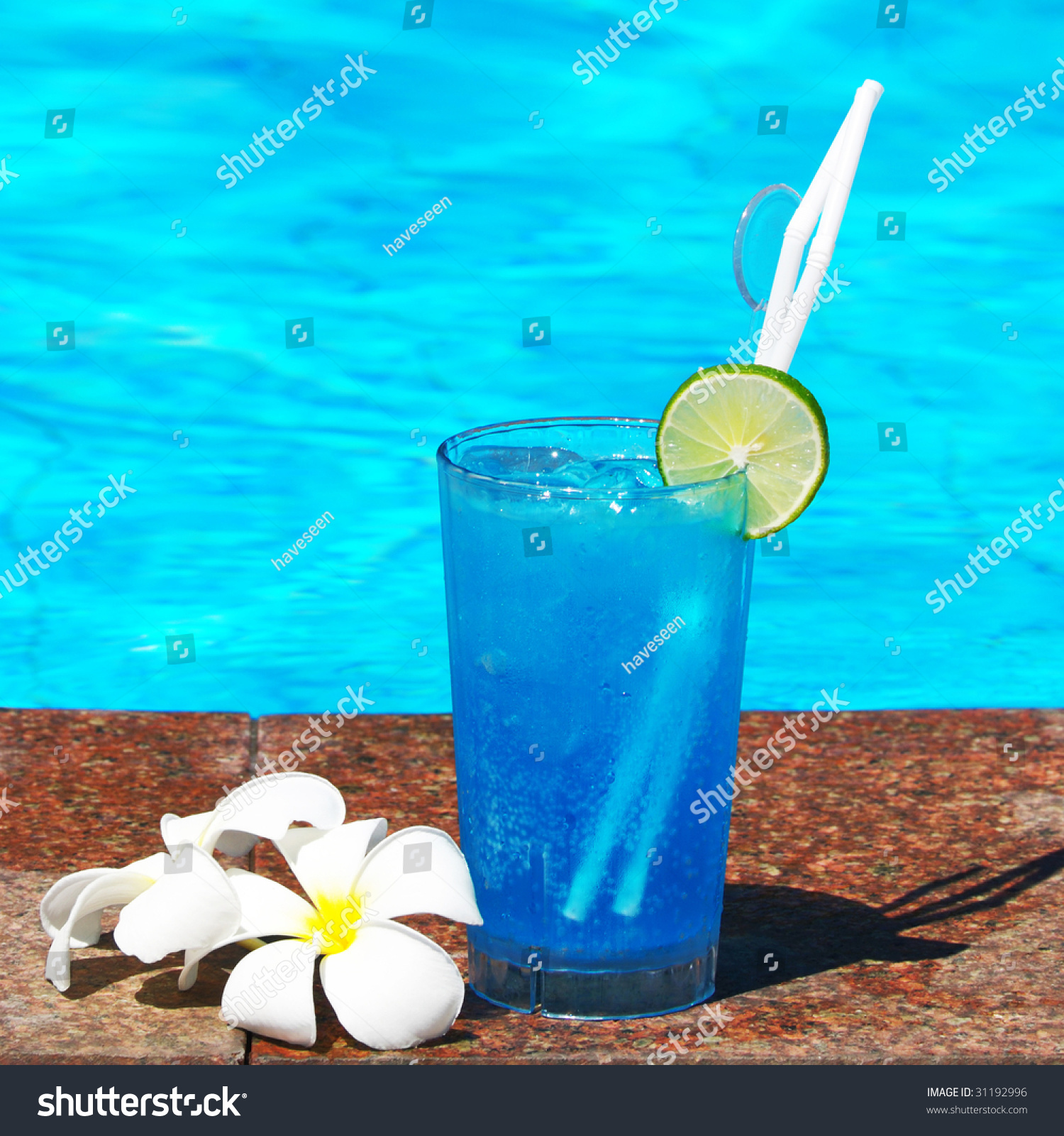 Cocktail Near Swimming Pool Stock Photo 31192996 Shutterstock
