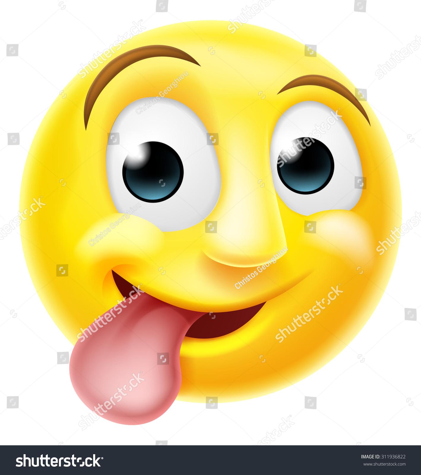 Tongue licking emoji