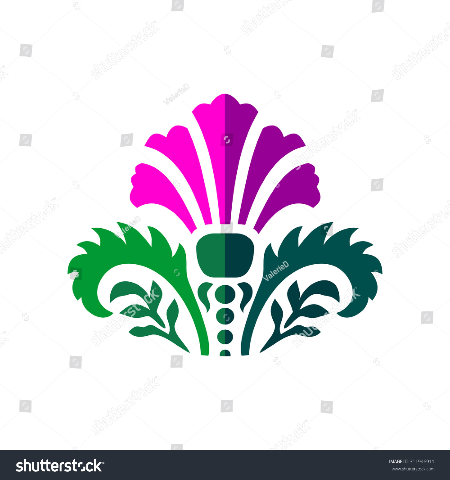 Thistle symbol scotland vector stock vector 311946911 shutterstock thistle symbol of scotland vector buycottarizona Image collections