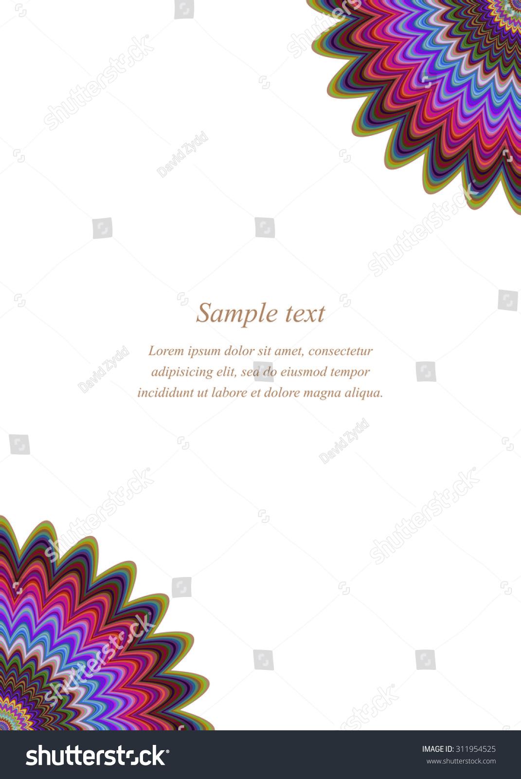 Color Page Corner Design Template Invitation Stock Vector