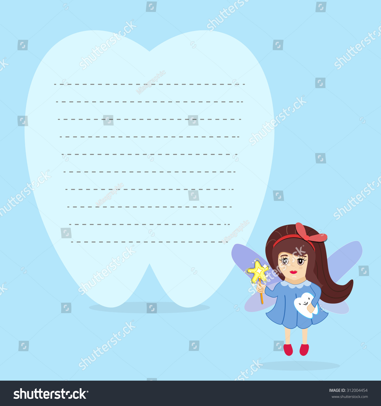 Tooth fairy holding tooth standing beside stock vector 312004454 tooth fairy holding tooth standing beside stock vector 312004454 shutterstock pronofoot35fo Image collections
