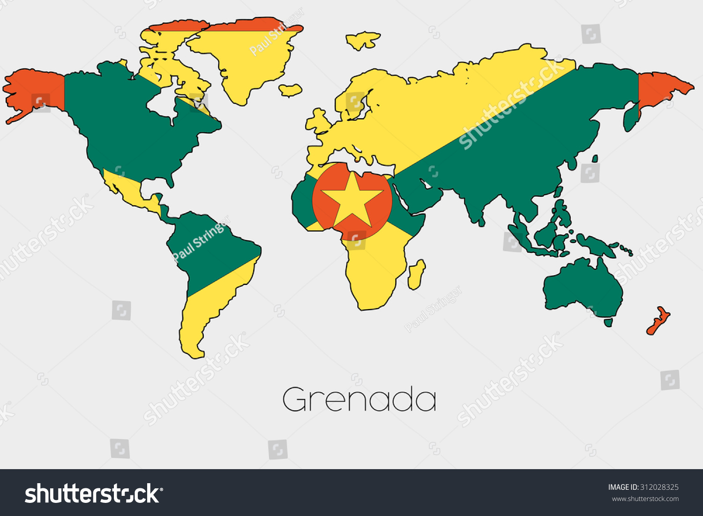 Picture of: Flag Illustration Inside Shape World Map Stock Illustration 312028325
