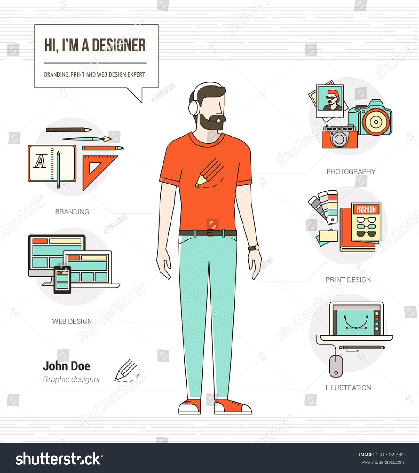 professional graphic designer photographer illustrator infographic professional graphic designer photographer and illustrator infographic skills resume tools and icons