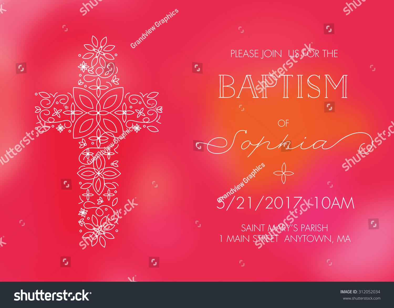 Girls Baptism Christening First Communion Confirmation Stock