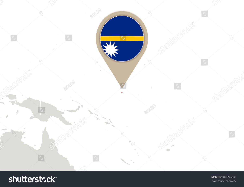 Map Highlighted Nauru Map Flag Stock Illustration 312059240