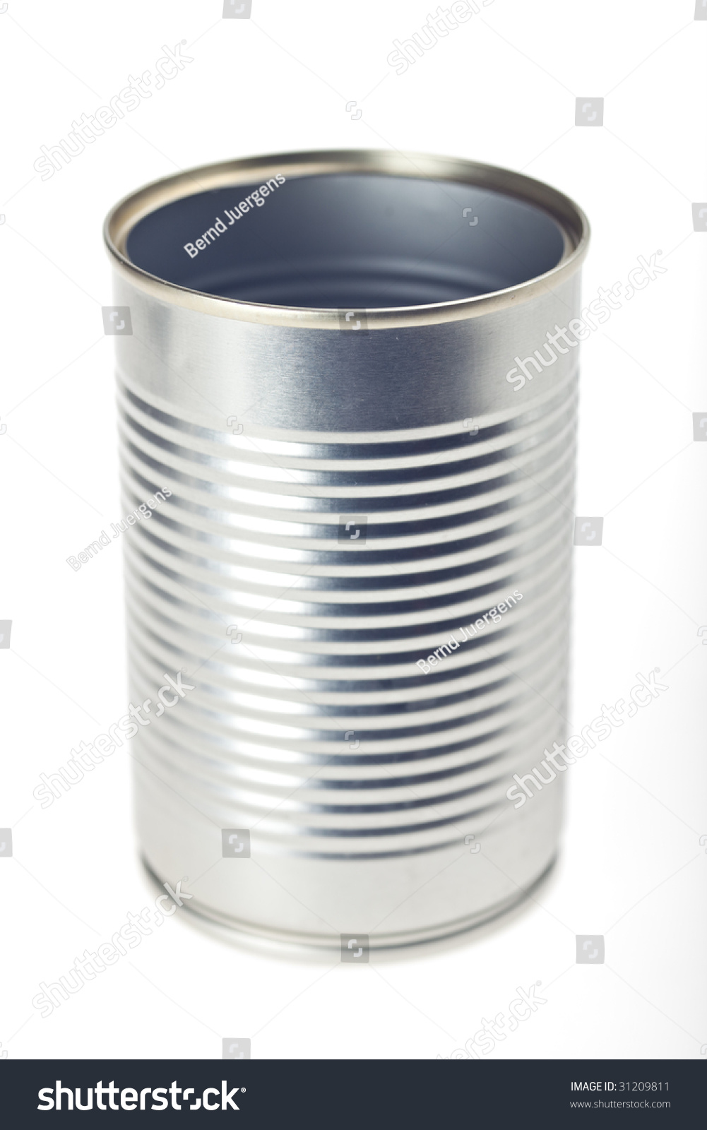 Empty Tin Can Stock Photography: Empty Tin Can Isolated On White Stock Photo 31209811