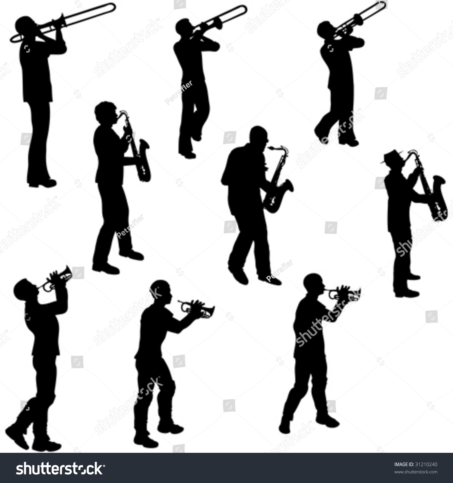 Saxophone Player Silho...