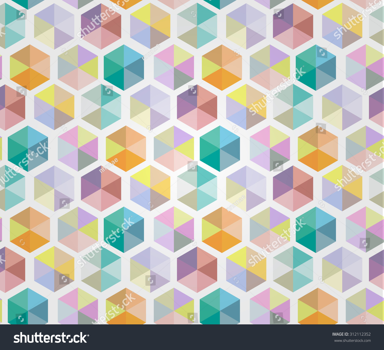 blue hexagonal pattern vector - photo #35