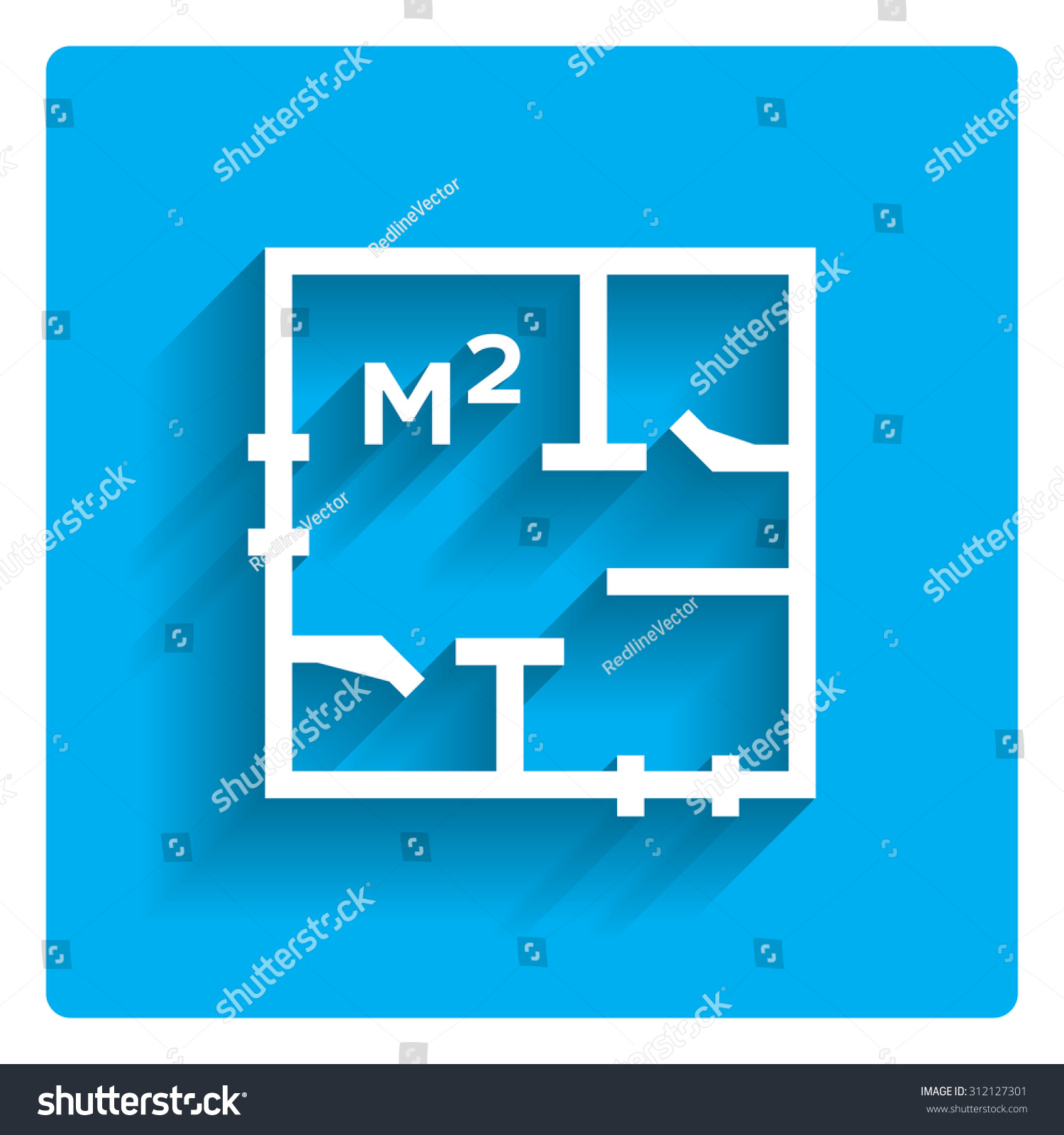 Icon Apartment Scheme Square Meter Designation Stock Vector (Royalty ...