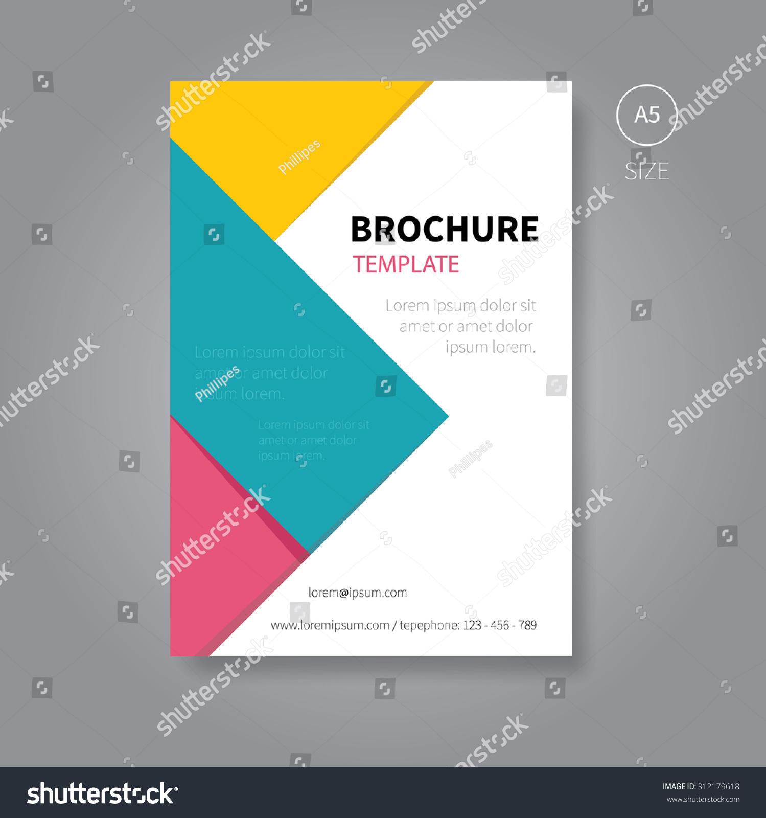 Vector Brochure Flyer Magazine: Modern Vector Brochure Flyer With Colour Shapes For Book