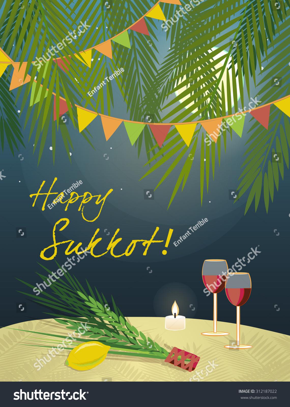 Royalty free sukkot festival greeting card design 312187022 stock sukkot festival greeting card design vector template greeting text happy sukkot traditional jewish sukkot m4hsunfo