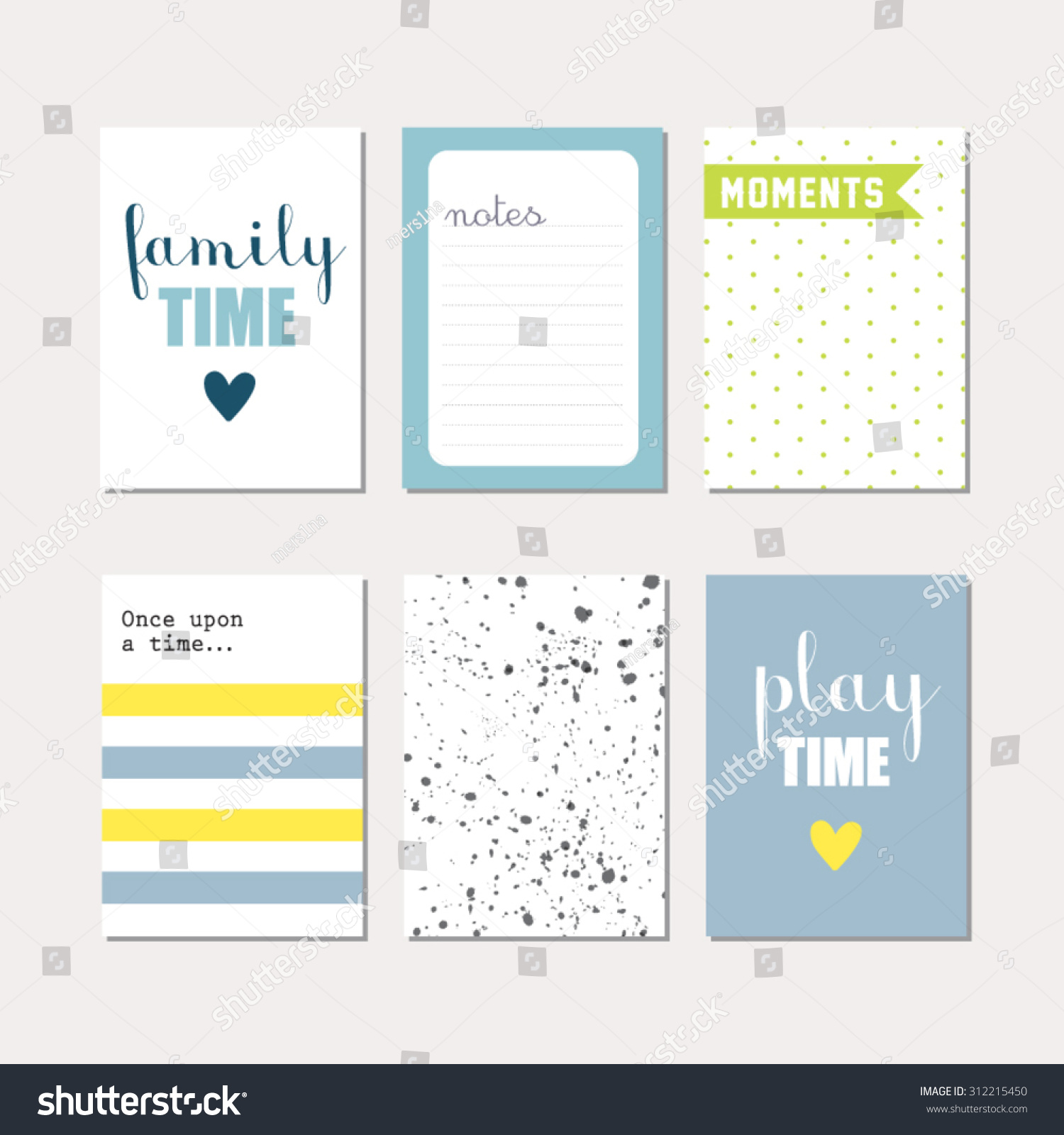 Set journaling cards newborn baby boy stock vector 312215450 set of journaling cards for newborn baby boy vector templates for scrapbooking greeting kristyandbryce Images