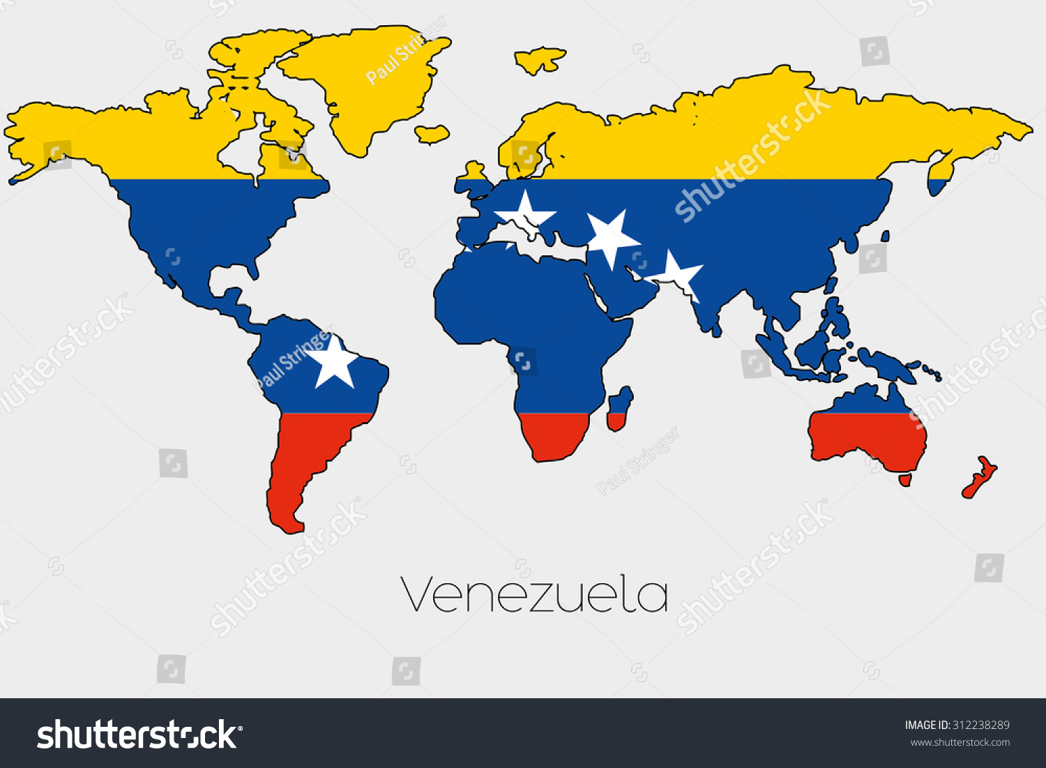 Flag illustration inside shape world map vectores en stock 312238289 a flag illustration inside the shape of a world map of the country of venezuela gumiabroncs Images