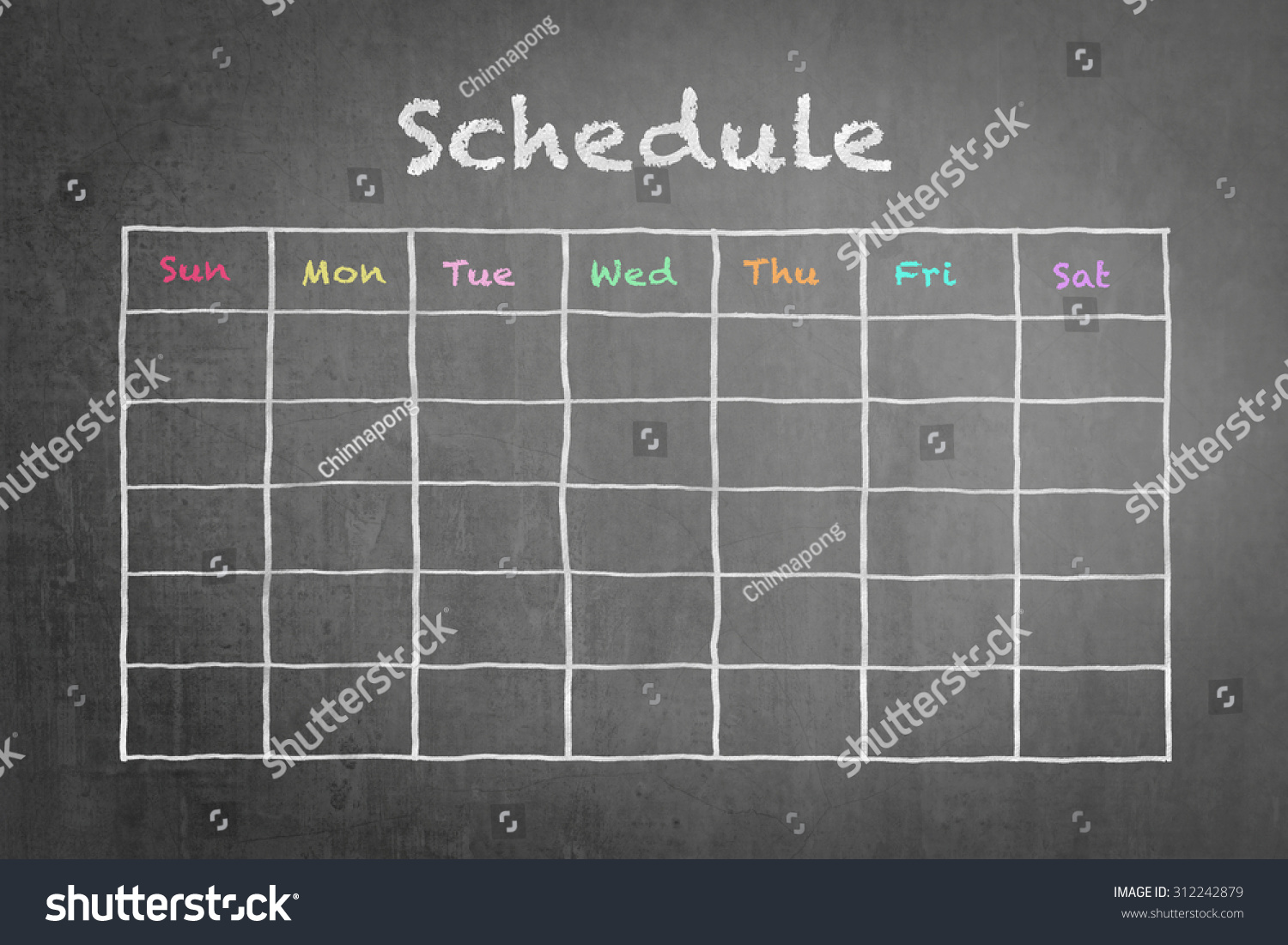 hand white chalk doodle sketch blank stock photo 312242879 hand white chalk doodle sketch of blank monthly grid timetable schedule on black chalkboard background