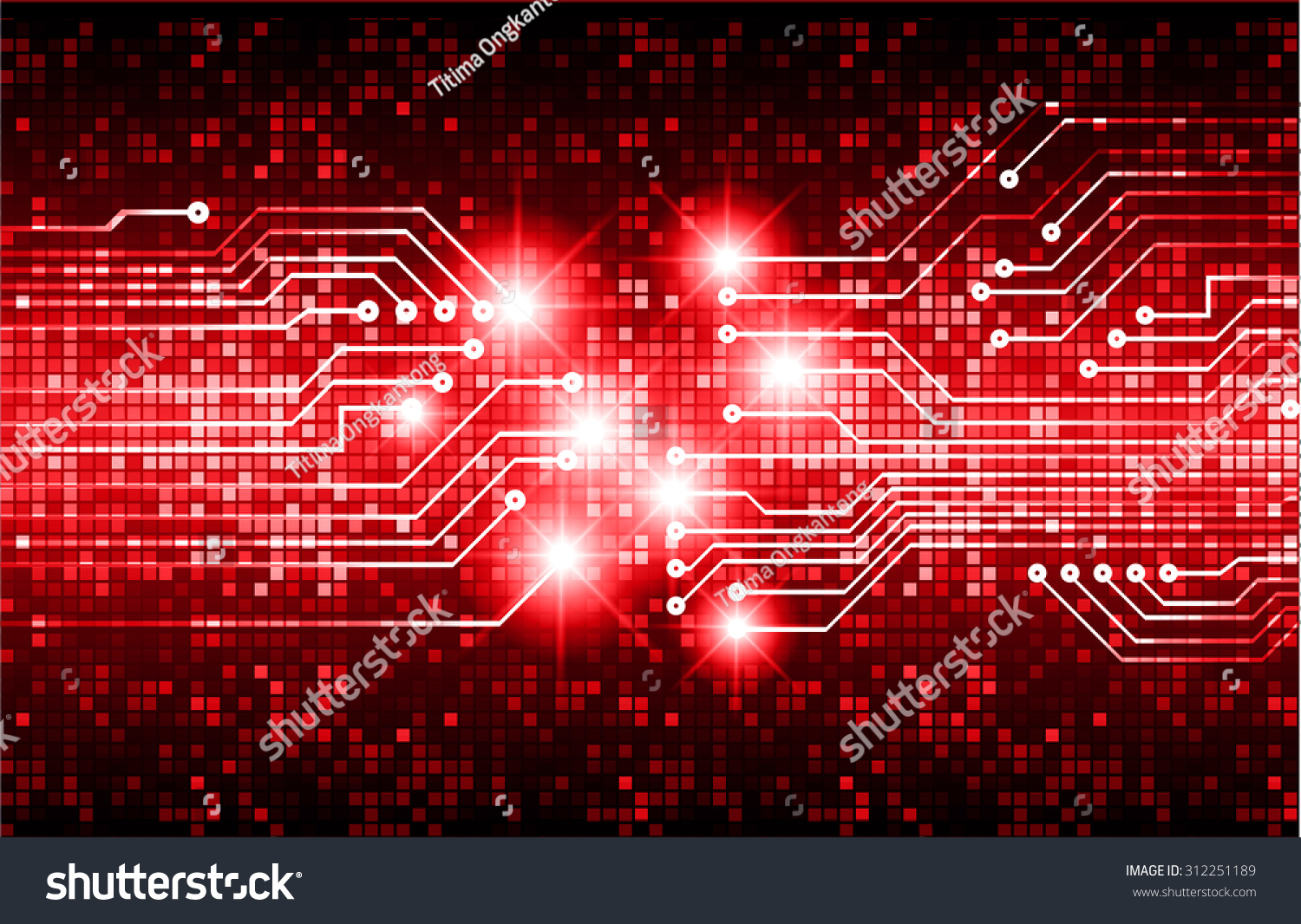 website colors neon : Dark Red Color Light Abstract Technology Background For Computer Graphic Website Internet And Business Circuit
