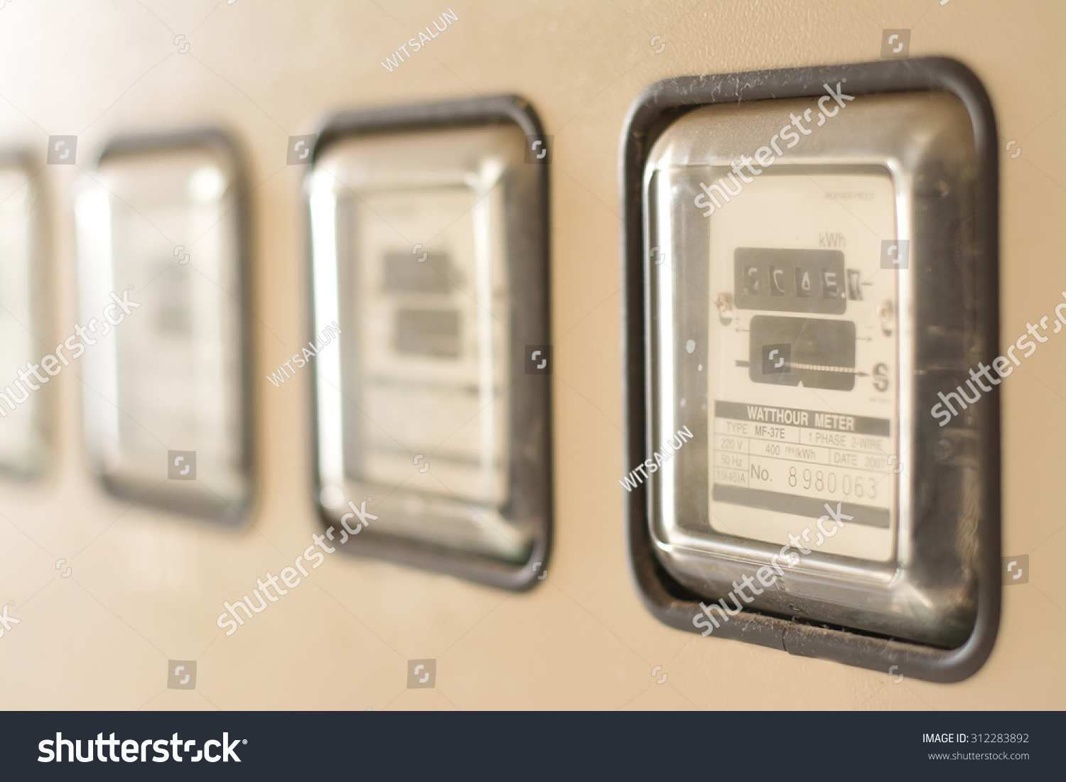 watt hour electric meter measurement tool stock photo. Black Bedroom Furniture Sets. Home Design Ideas