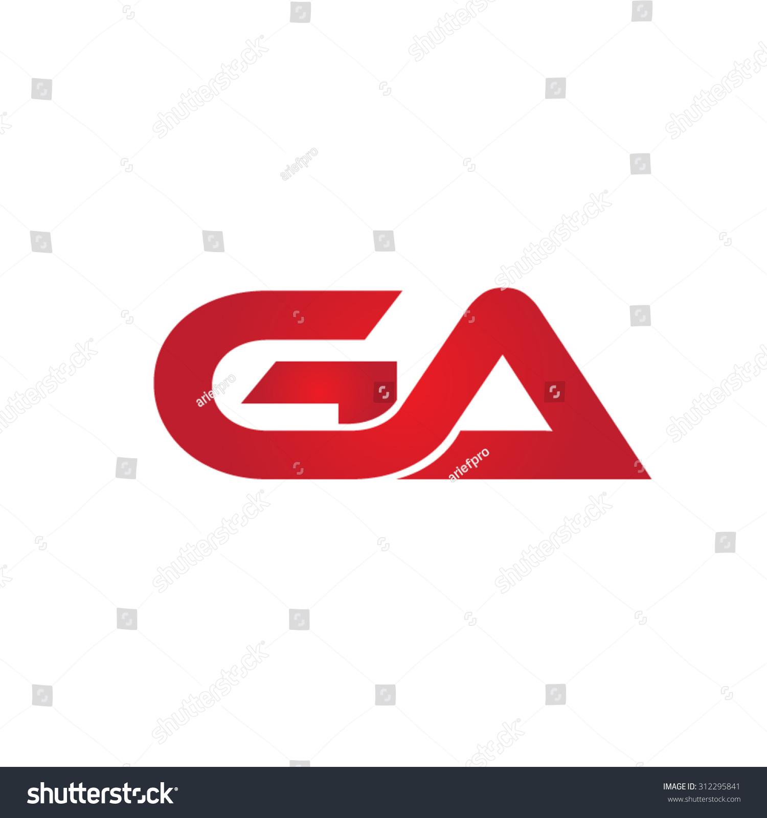 ga company linked letter logo stock vector 312295841 shutterstock. Black Bedroom Furniture Sets. Home Design Ideas