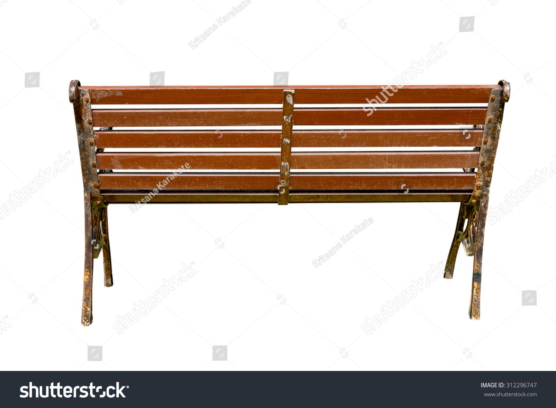 Wooden Park Bench Sunlightbench Chair Garden Stock Photo