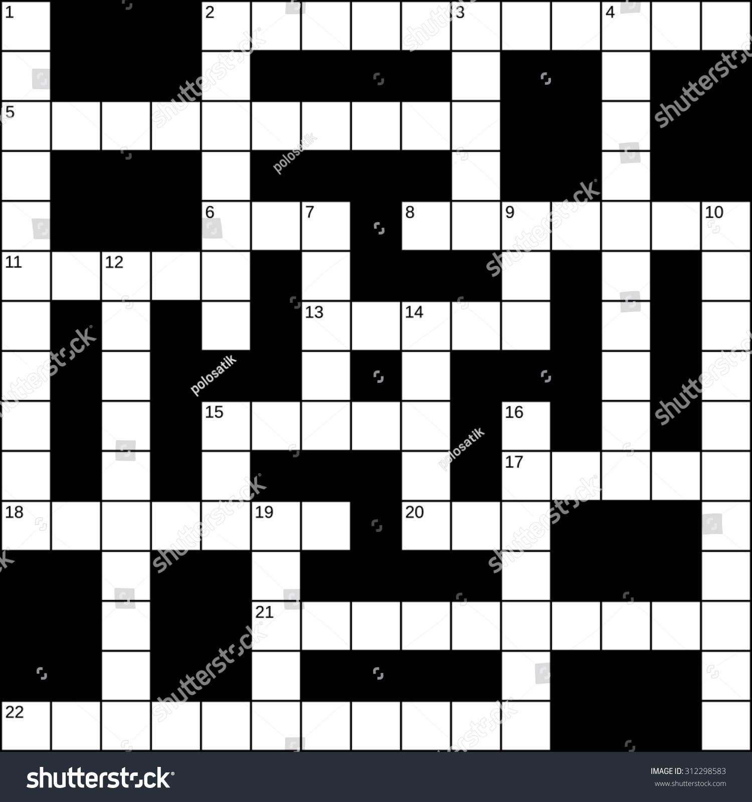 Empty 15x15 Squares Britishstyle Crossword Grid Stock