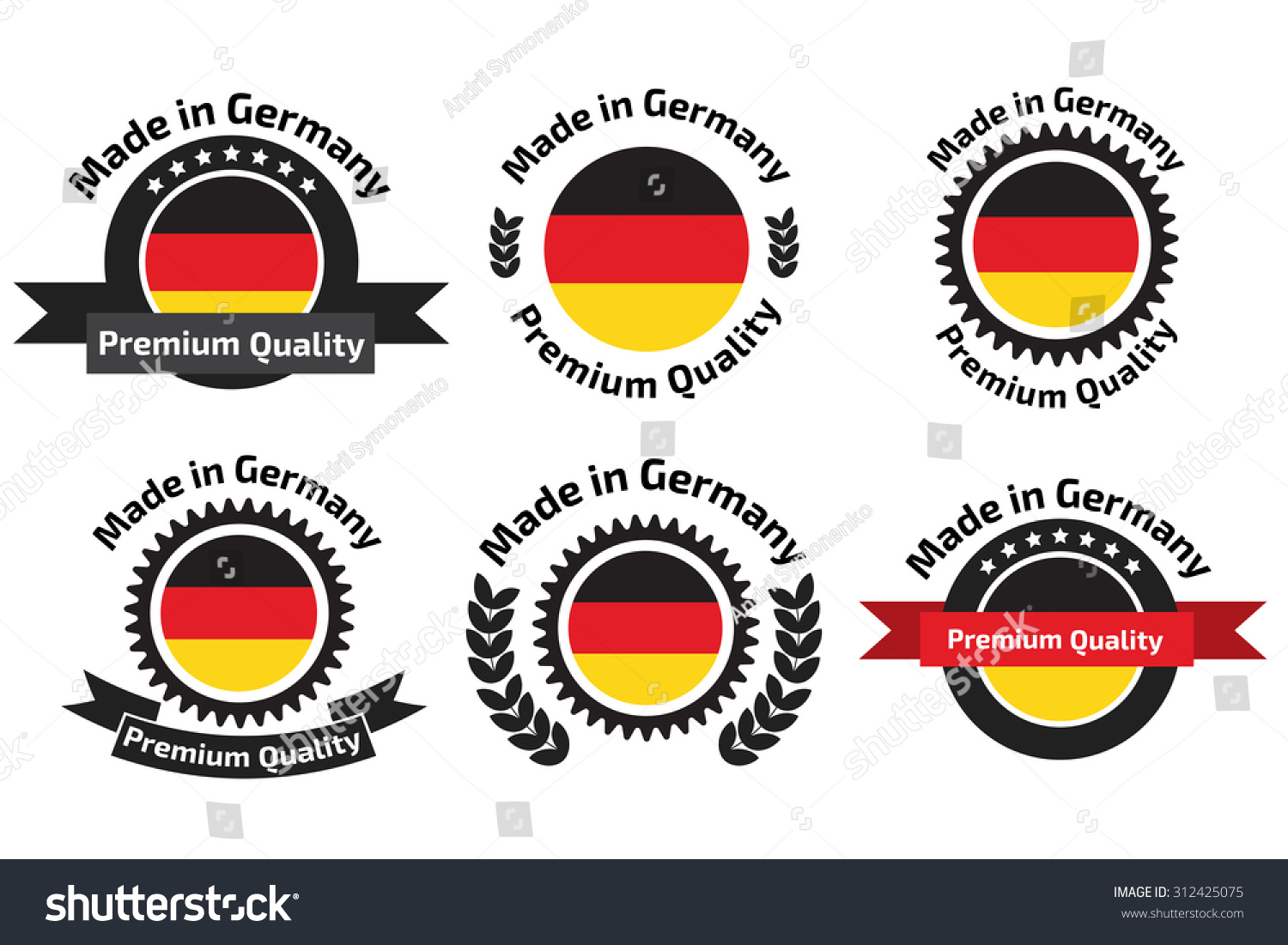 made germany logo label badge stock vector royalty free 312425075