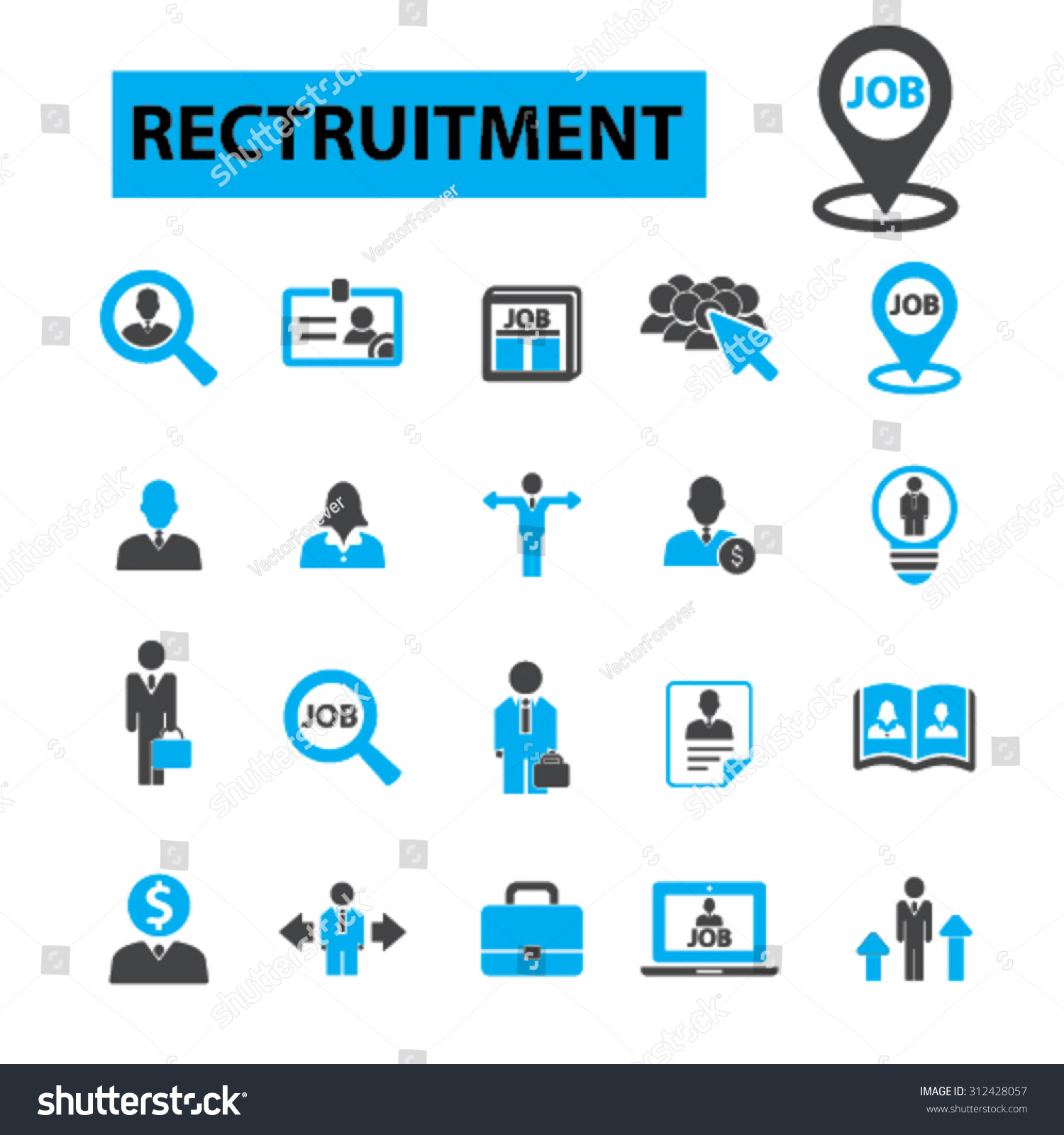 recruitment concept icons hiring human resources stock vector recruitment concept icons hiring human resources career interview resume employment