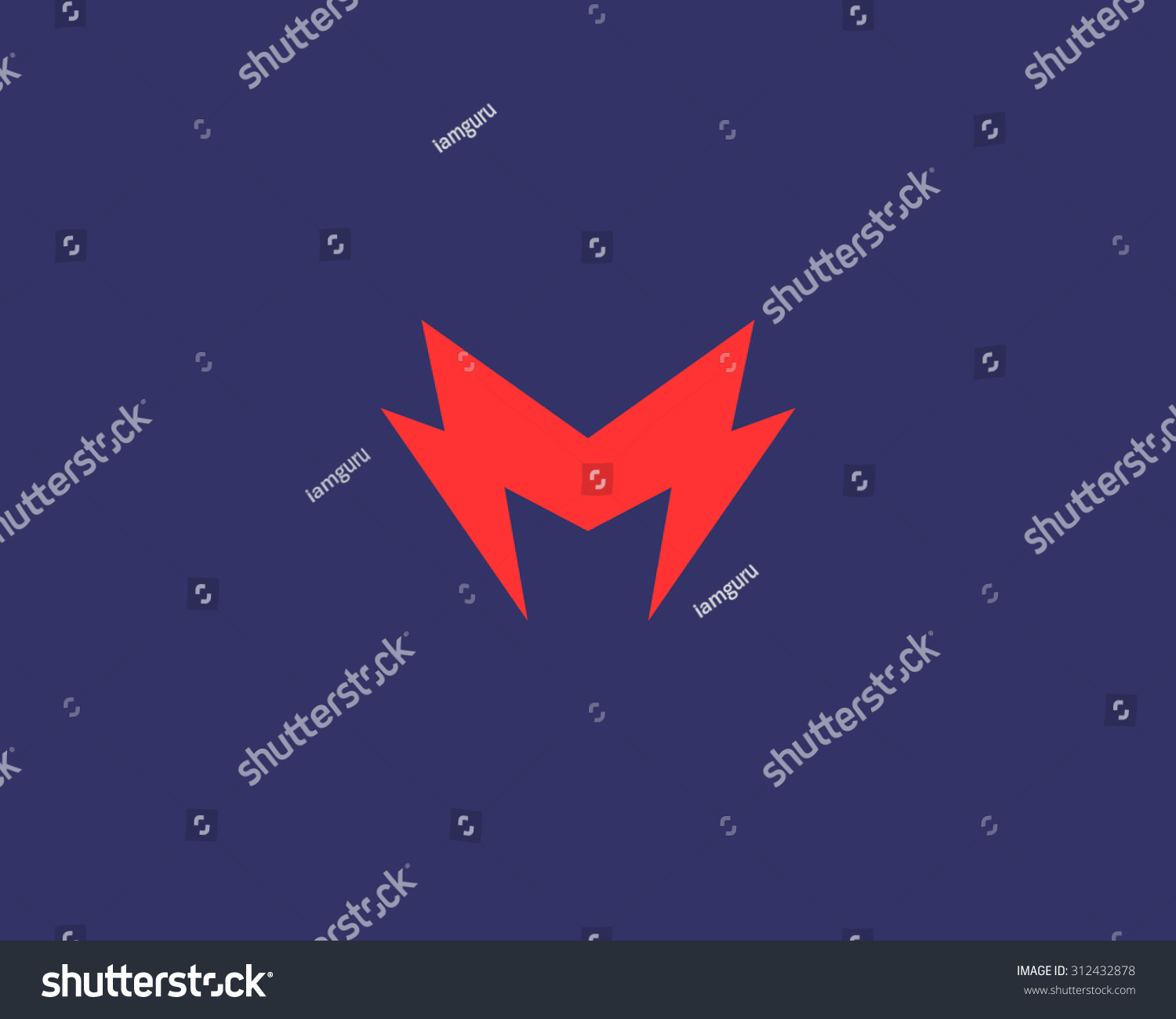 Abstract Letter M Logo Dynamic Unusual Stock Vector Royalty Free