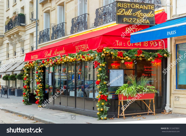 Paris France December 21 2015 Trattoria Dell Angelo An Italian Restaura