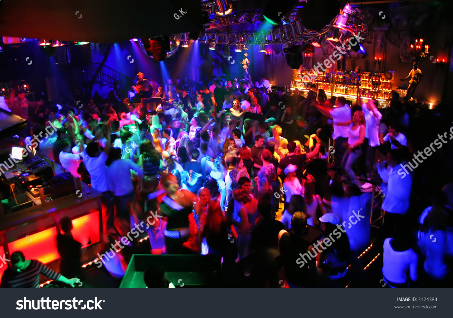 Large Disco Party Full People Stock Photo 3124384