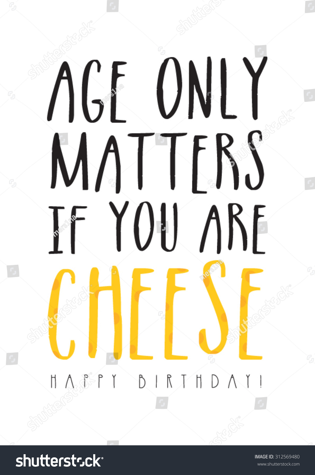 Funny Birthday Card Stock Vector Royalty Free 312569480