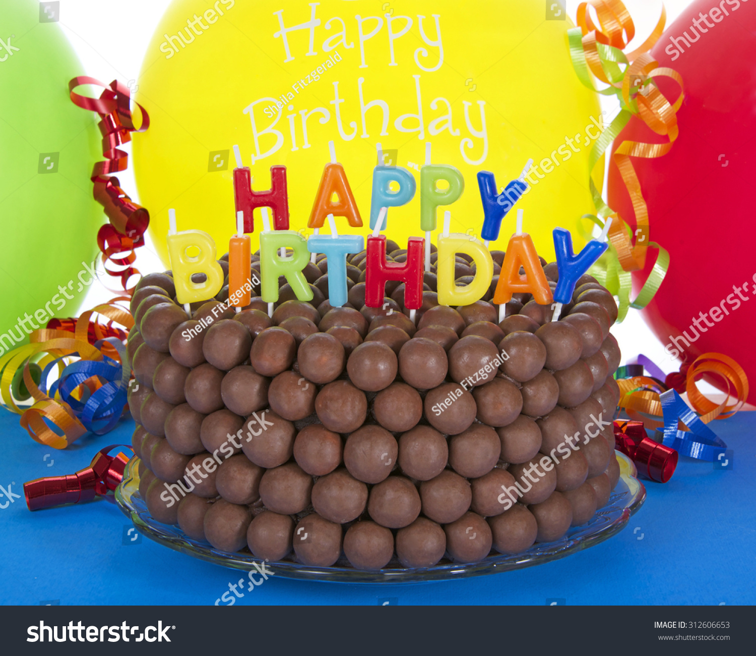 Whopper Chocolate Birthday Cake Decorated Candy Stock Photo Edit