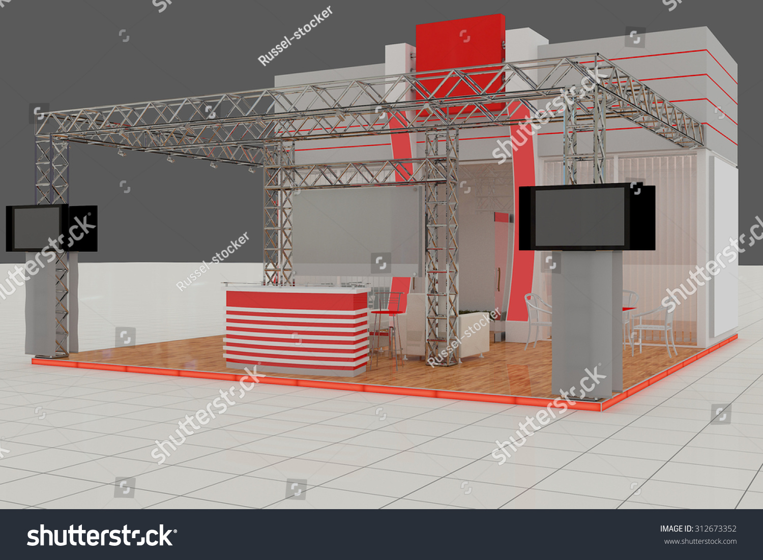 Exhibition Stand Reception : Exhibition stand advertising stand hall interior stock illustration