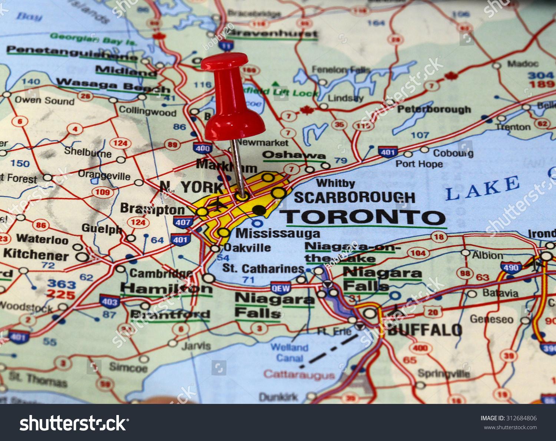 Map Pin Point Toronto Canada Stock Photo Shutterstock - Toronto canada map