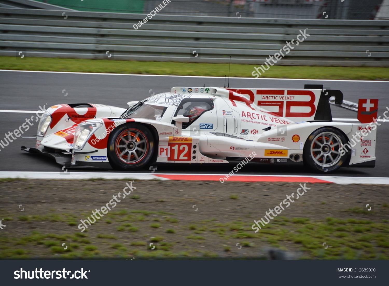 Nurburg Germany  city pictures gallery : NURBURG, GERMANY AUGUST 28: Glowing brakes of the Rebellion Racing R ...