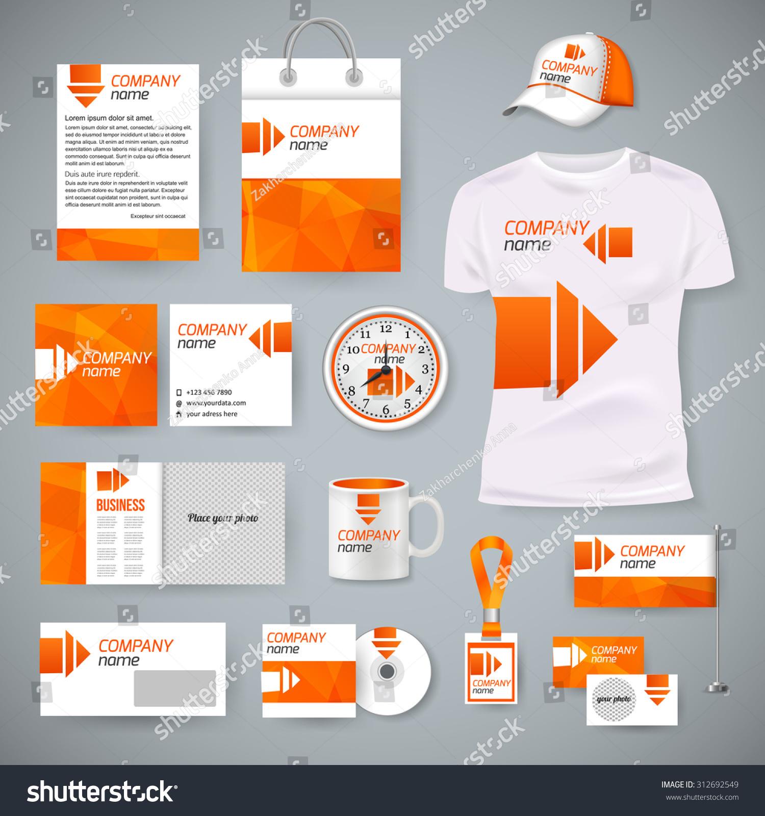 Corporate Identity Business Photorealistic Design Template Stock ...