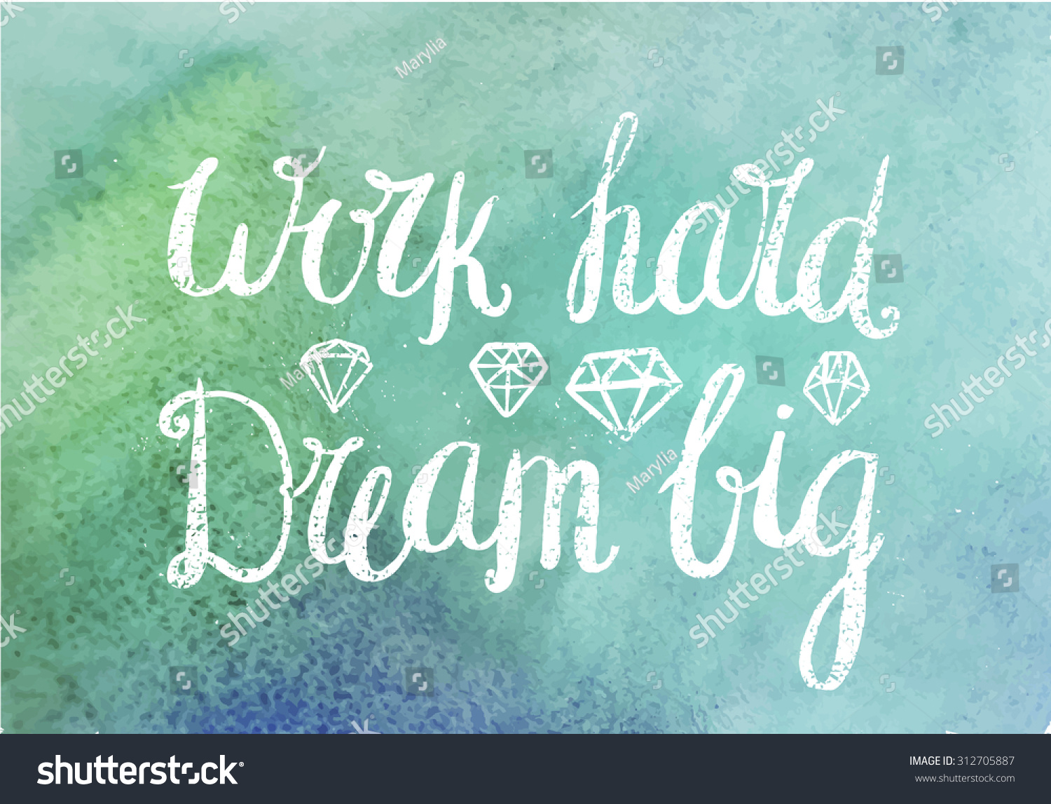 Vector Motivating Inspirational Quote Work Hard Stock Vector