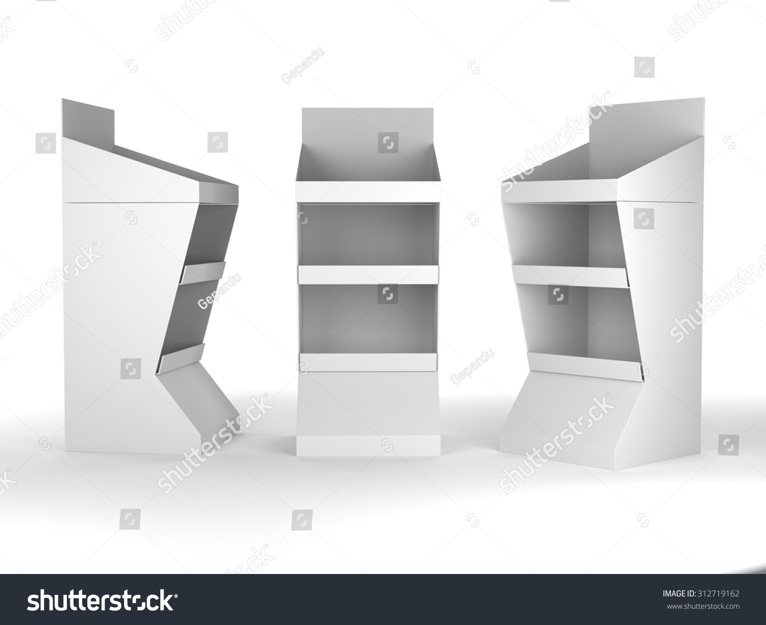 Exhibition Stand Mockup Free Download : Display stand mockup template on white stock illustration