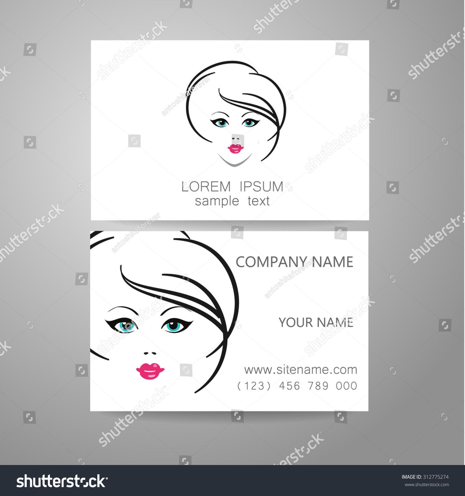 Hair Salon Hairdresser Template Logo Branded Stock Vector 312775274 ...