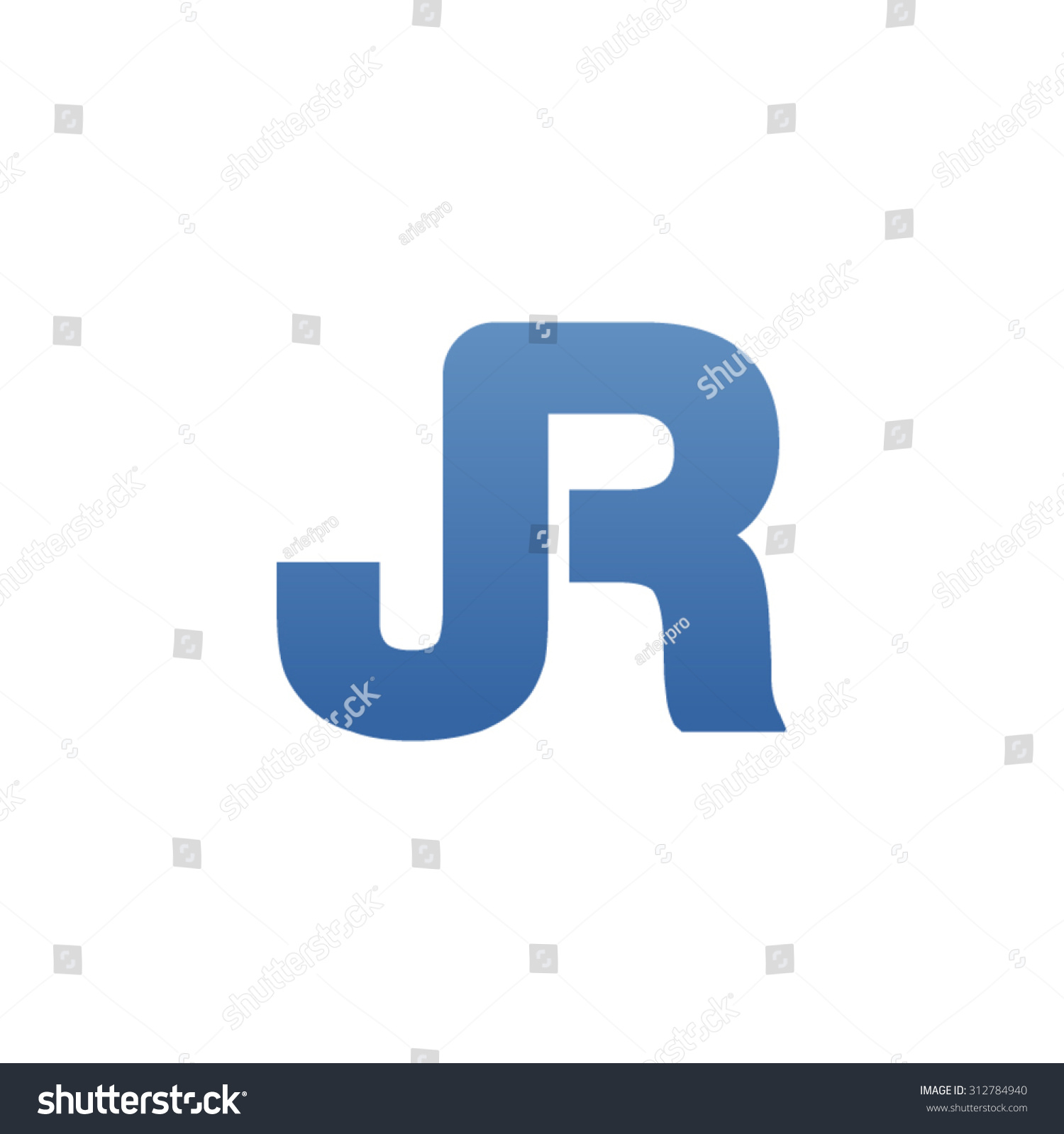 Tj initial luxury ornament monogram logo stock vector - Jr Letter Icon Logo Connected