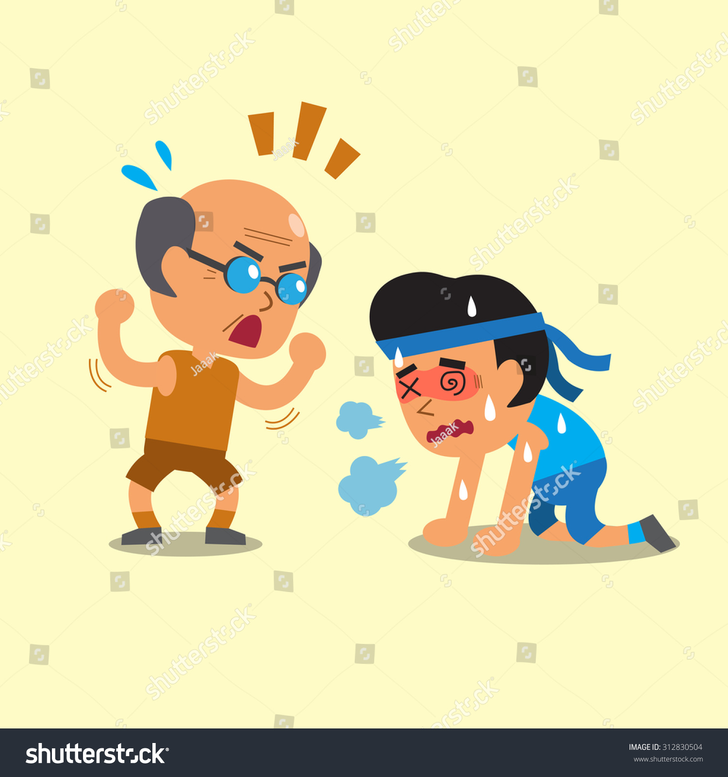 Young And Old Cartoon Cartoon Sport Old Man ...