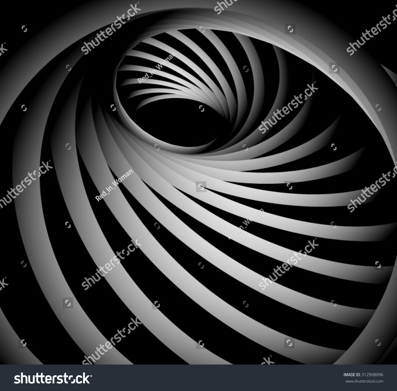 hole optical illusion spiral futuristic circle swirl screw striped metal vector shutterstock