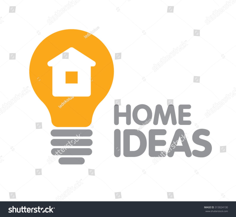 Abstract Lamp House Idea Logo Design Stock Vector Royalty
