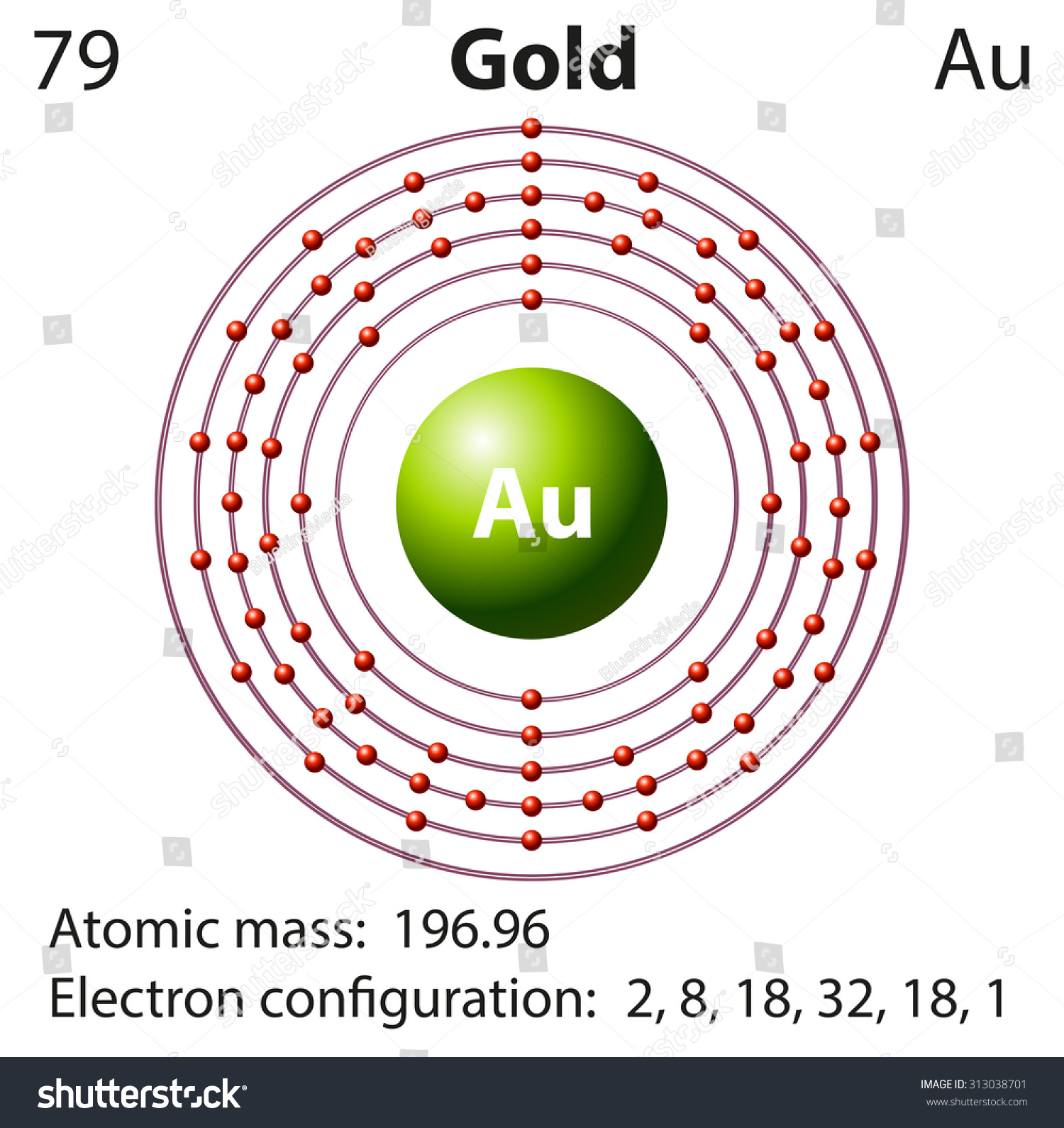 Diagram Representation Element Gold Illustration Stock Vector ...