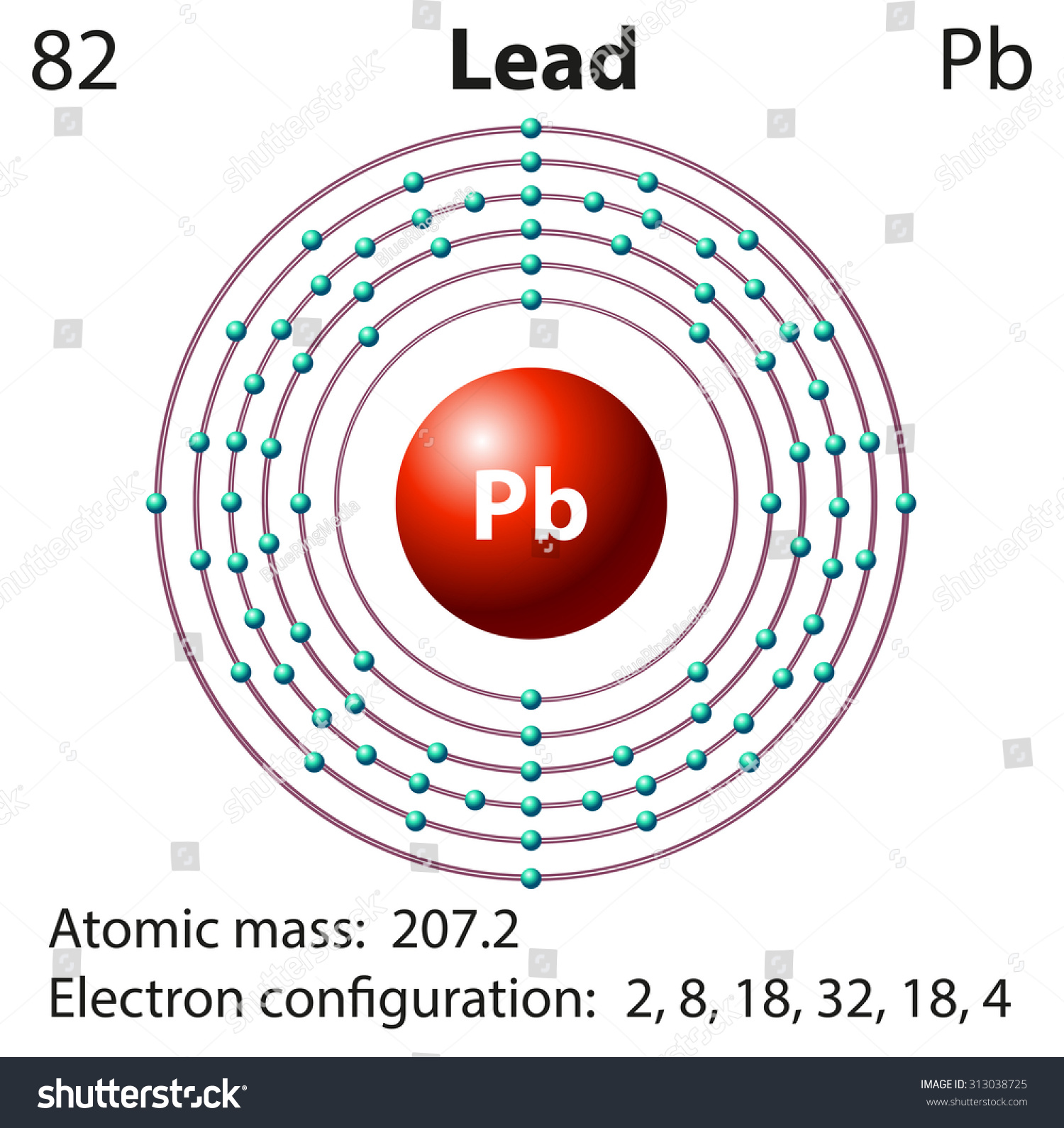 Diagram representation element lead illustration stock vector diagram representation of the element lead illustration pooptronica