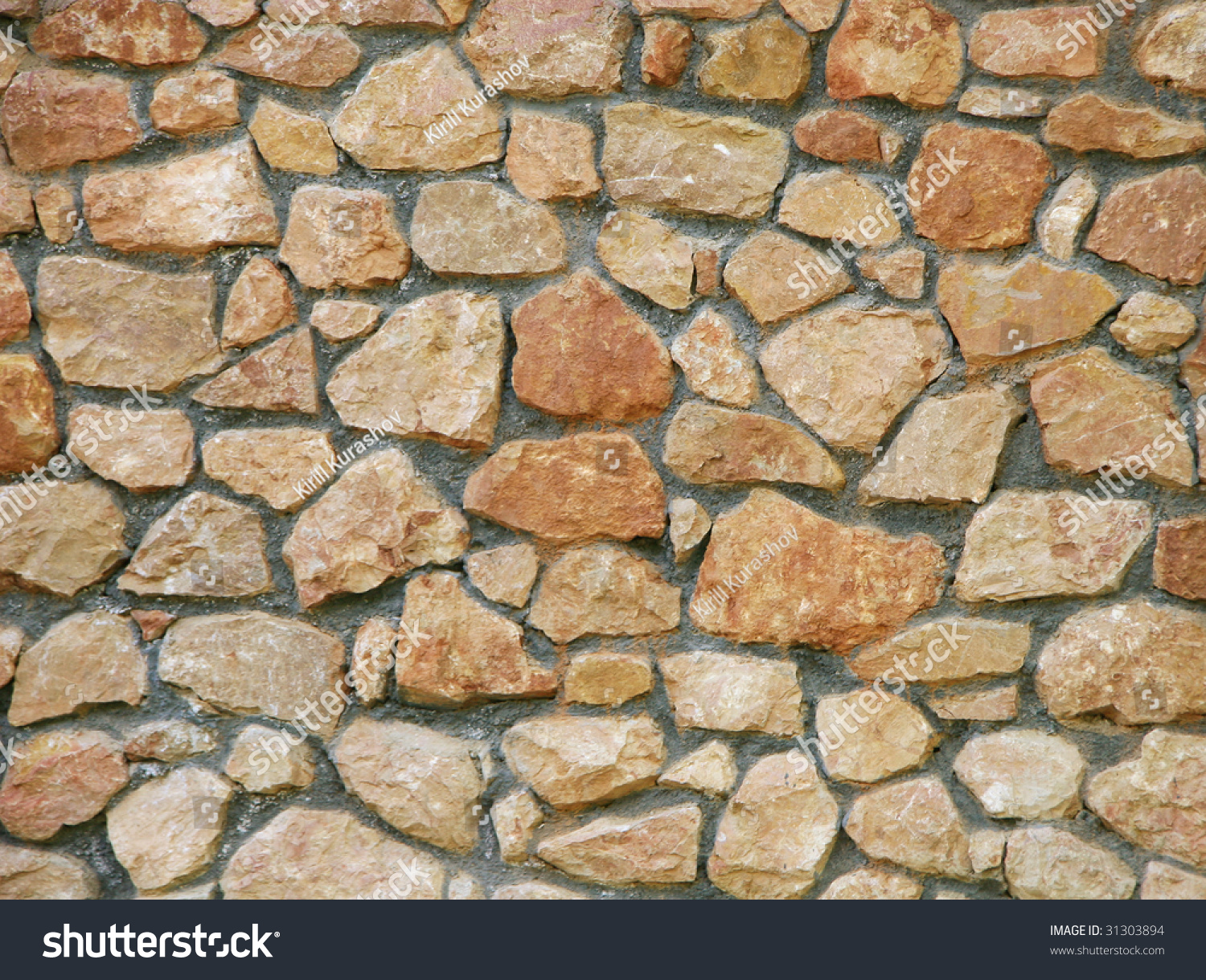 Red stone wall background
