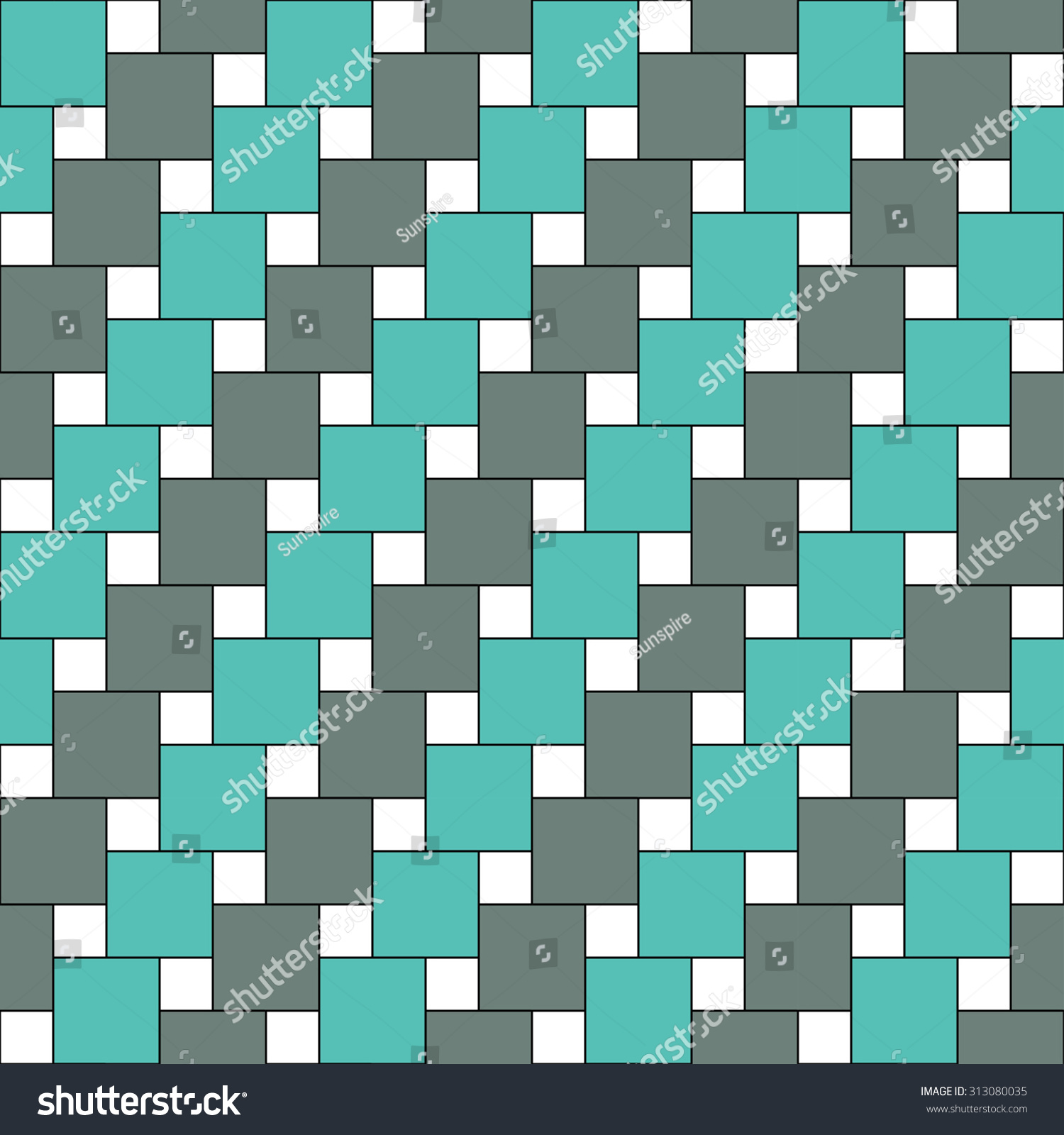 Bed sheets texture - Vector Modern Seamless Colorful Pattern Squares Blue Color Background Textile Print Abstract Texture