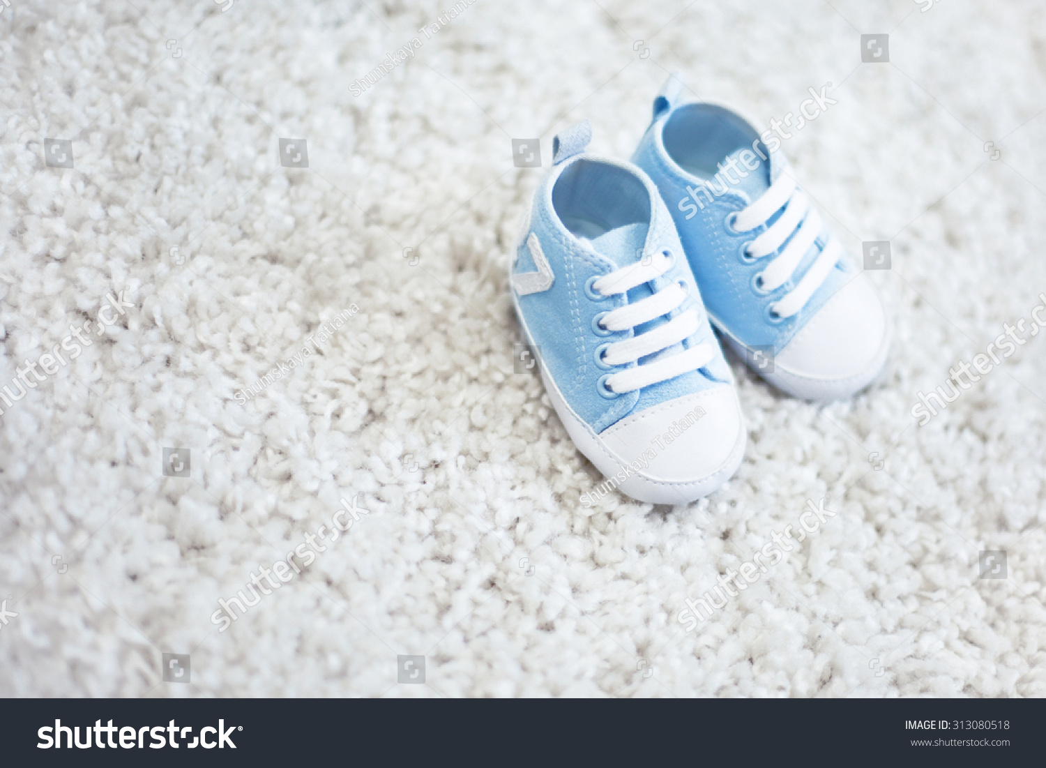 Baby Boy Shoes Blue Color On Stock