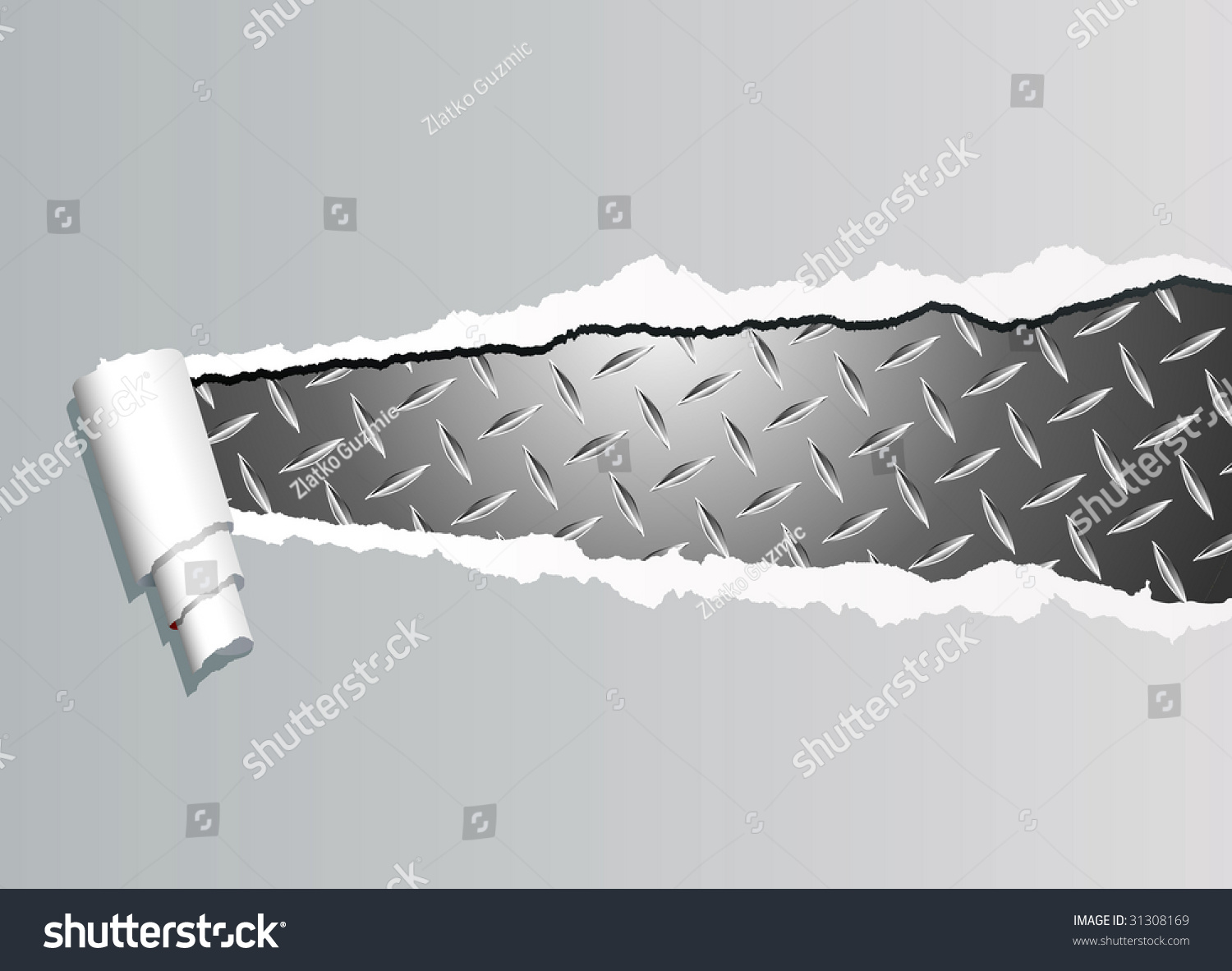 Vector Background Ripped Paper Diamond Metal Stock Vector ... - photo#14