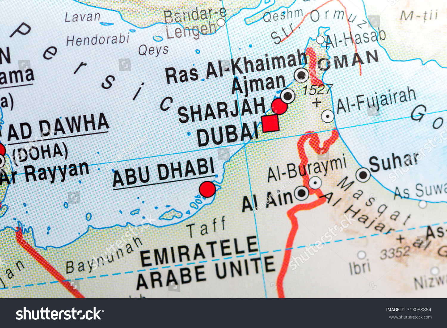 Map View Abu Dhabi Dubai Stock Photo (Edit Now) 313088864 - Shutterstock